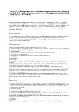 Všeobecne záväzné nariadenie MČ BNM č. 3/2010 zo dňa 22.06