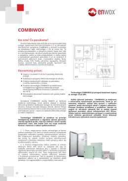Katalógový list COMBIWOX