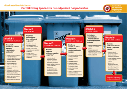 Certifikovaný špecialista pre odpadové hospodárstvo