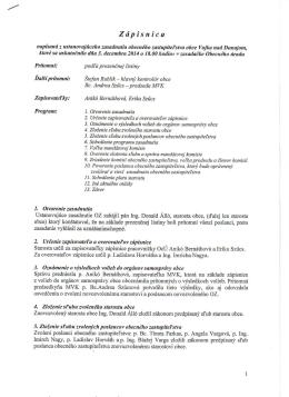 Zápisnica-03.12.2014 - Obec Vojka nad Dunajom