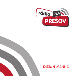 DIZAJN MANUÁL - Radio Presov