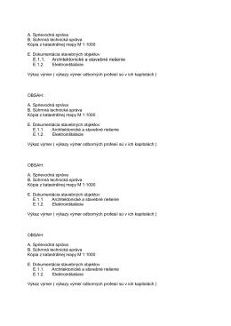 E.1.1. Architektonické a stavebné riešenie