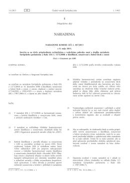Nariadenie Komisie (EÚ) č. 487/2013 z 8. mája 2013, ktorým sa na