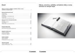 Obsah Zákony, smernice, vyhlášky, nariadenia vlády a