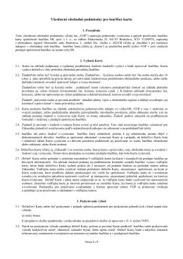 Všeobecné obchodné podmienky pre bauMax kartu