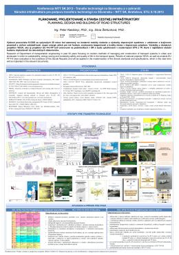 Plánovanie, projektovanie a stavba cestnej infraštruktúry