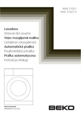 Lavadora Manual del usuario Automatická pračka
