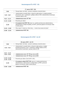 17. marec 2015 - SJL 9:00 • Nástup žiakov do školy