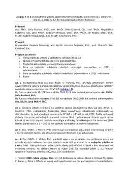 Zápisnica zo zasadnutia výboru Slovenskej
