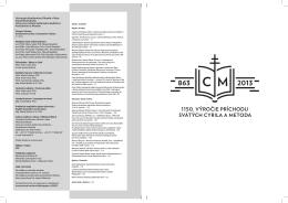Konštantínove listy 2012 – obsah - Univerzita Konštantína Filozofa v