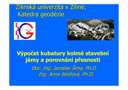 Žilinská univerzita v Žiline, Katedra geodézie