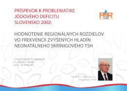 Jódový deficit - PKR SLOVAKIA as