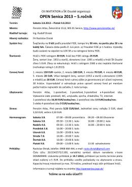 OPEN Senica 2013 – 5.ročník