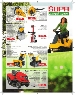 Akcia - Záhradná Technika Galanta