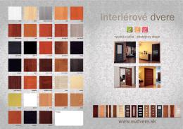 katalóg produktov - Interiérové dvere