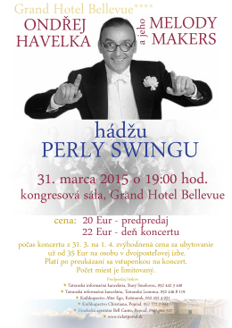 koncert perly swingu - Grand hotel Bellevue