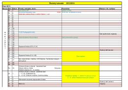 Školský kalendár 2013/2014 Rok 2013