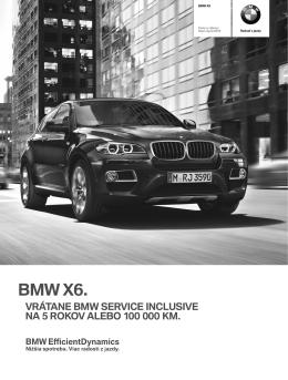 Stiahnite si Cenník BMW X6 (PDF, 326k)