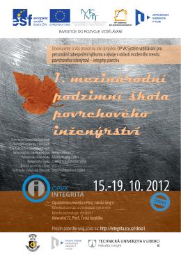 OP VK Integrita - 1. podzimní škola