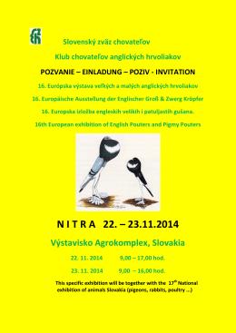 N I T R A 22. – 23.11.2014