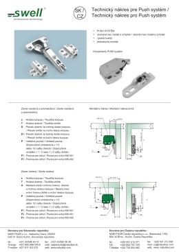 Technický nákres pre Push systém / Technický nákres