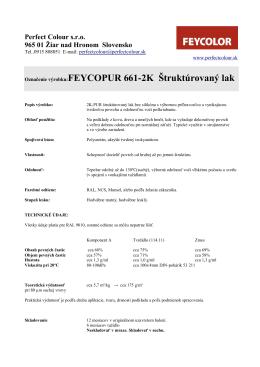 Označenie výrobku:FEYCOPUR 661-2K