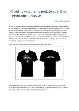 Návod na vytvorenie potlače na tričko v programe Inkspace