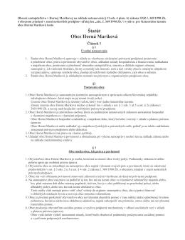 Štatút Obce Horná Mariková