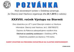 pozvánka - Klub slovenských turistov Dobšiná