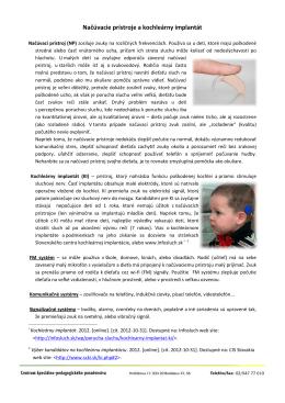 Načúvacie prístroje a kochleárny implantát