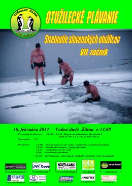 16. februára 2014 Vodné dielo Žilina o 14.00