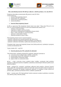 šk. roku - Obchodná akadémia