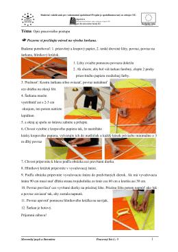 pracovný list-opis pracovného postupu