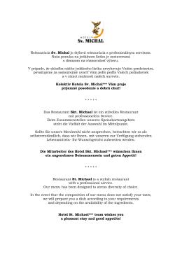 Reštaurácia Sv - Hotel sv. Michal