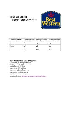 BEST WESTERN HOTEL ANTARES ****