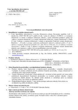 Výzva na predkladanie cenových ponúk [pdf]