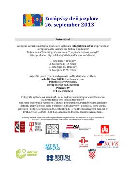 Európsky deň jazykov 26. september 2013