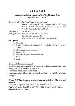 9.12.2013 - Liptovský Peter