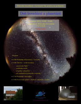 Deň hvezdární a planetárií - Tekovská hvezdáreň Levice