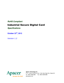 Industrial Secure Digital Card