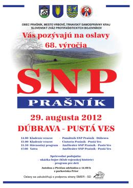 Pozvánka na oslavy SNP