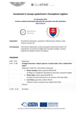Inováciami k rozvoju spoločnosti v Dunajskom regióne