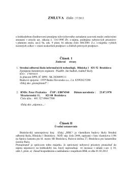 Zmluva 37-2013 - SOŠ Informačných technológií