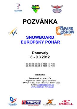 Propozície - PARK SNOW Donovaly