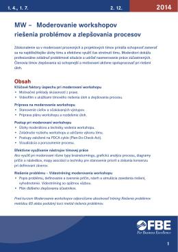 MW – Moderovanie workshopov 2014