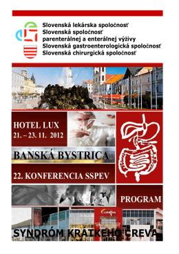 Program konferencie 2012 - Slovenská lekárska spoločnosť