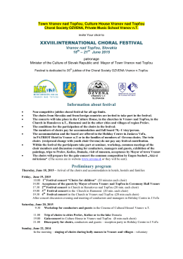 Information about festival and program