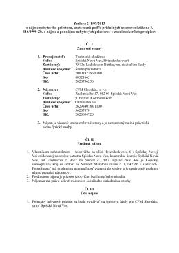 zmluva CFM 1- 2013 - Technická akadémia
