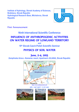 INFLUENCE OF ANTHROPOGENIC ACTIVITIES ON WATER
