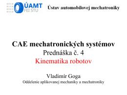 CAE 4 Kinematika robotov